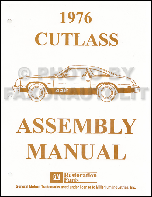 1976 Olds Assembly Manual Cutlass S Supreme Salon Vista Cruiser 442