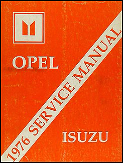 1976 Opel Repair Manual Original