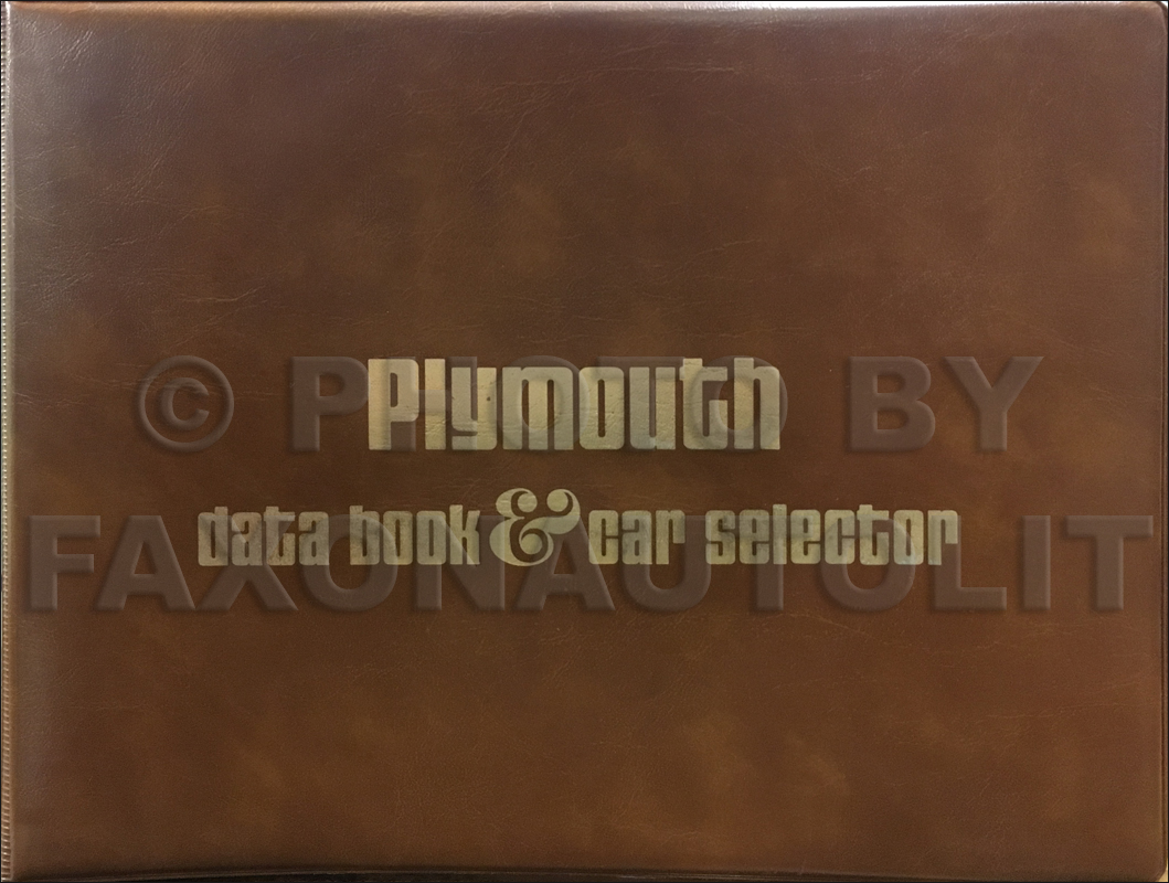 1976 Plymouth Data Book Original
