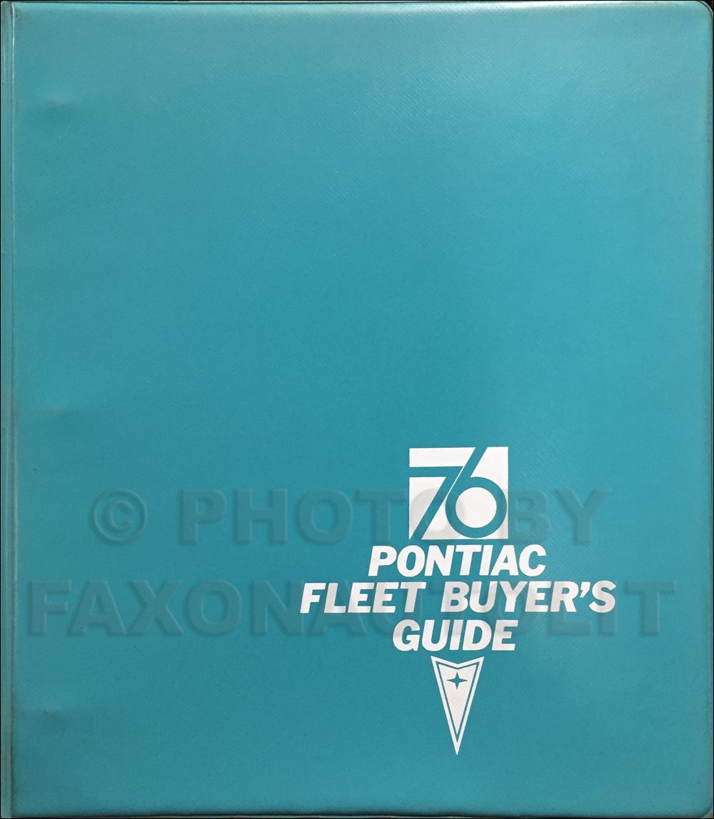 1976 Pontiac Fleet Buyer's Guide Dealer Album Original