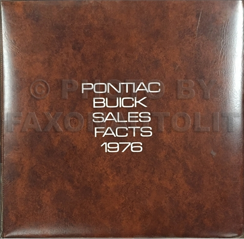 1976 Pontiac and Buick Color and Upholstery Dealer Album Facts Book Original CANADIAN