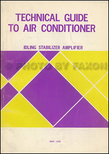 1976 Toyota A/C Idling Stablizer Amplifier Manual Original