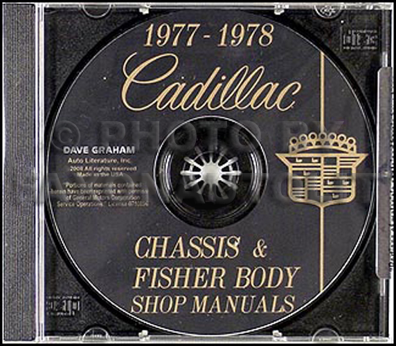 1977 1978 Cadillac Shop Manual and Body Manual on CD-ROM
