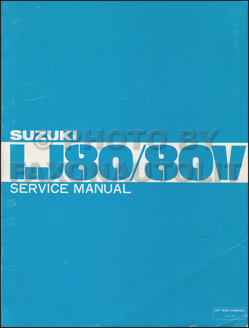 1988 Suzuki Samurai Repair Manual Original