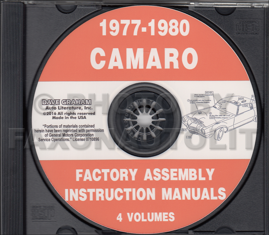 1977-1980 Camaro Factory Assembly Manual CD