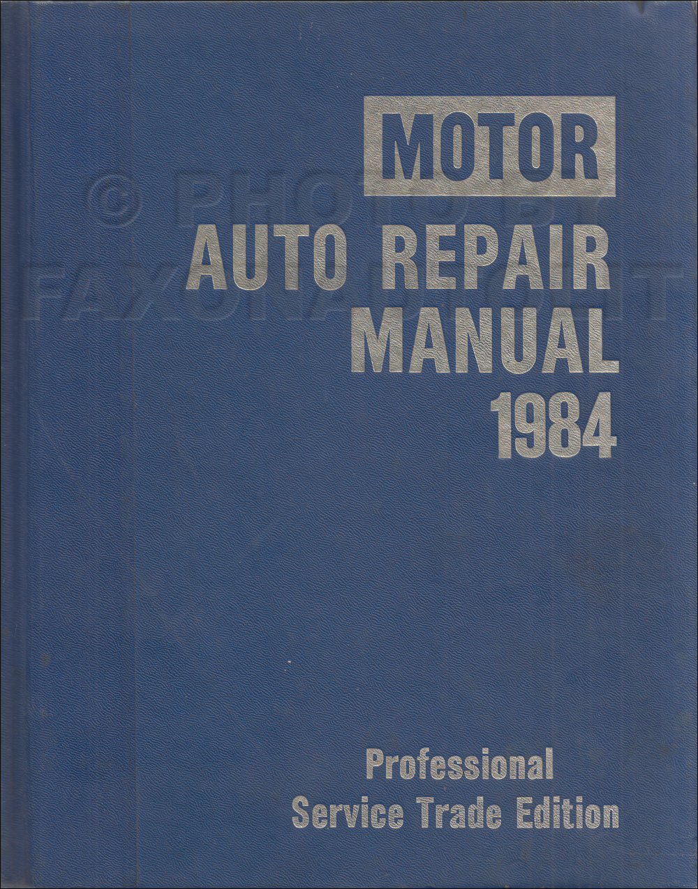 1977-1984 Motors US Car Shop Manual 47th Professional Service Trade Edition