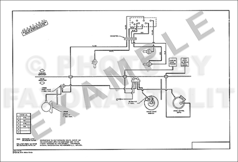 1986 Ford Escort and Mercury Lynx Brakes and Cruise Control Vacuum Diagram 1.9L