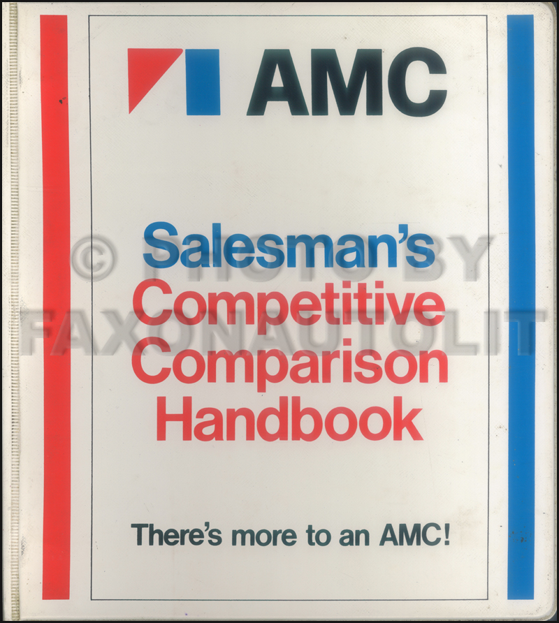 1977 AMC Competitive Comparison Dealer Album Original