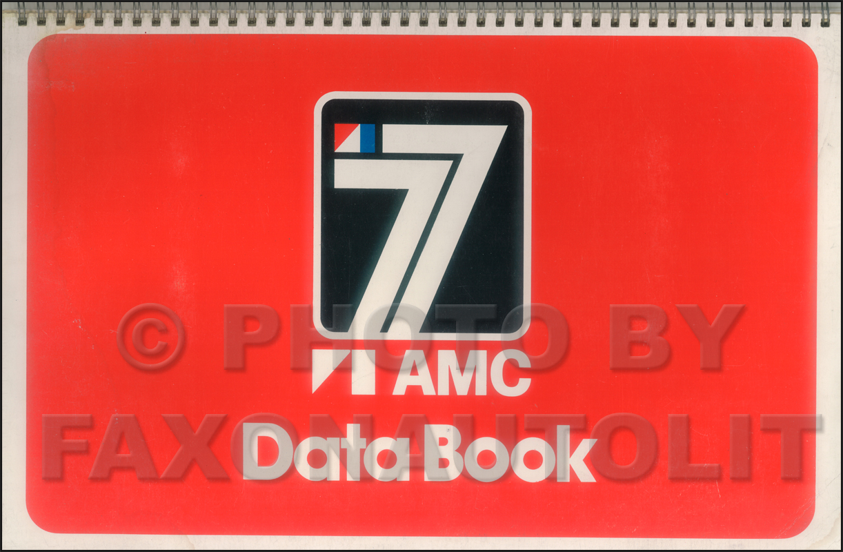 1977 AMC Data Book Original Gremlin Hornet Pacer Matador