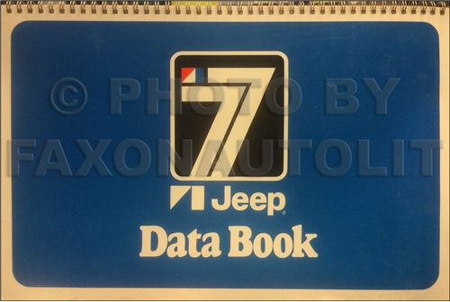 1977 Jeep Data Book Original Cherokee Wagoneer CJ Truck