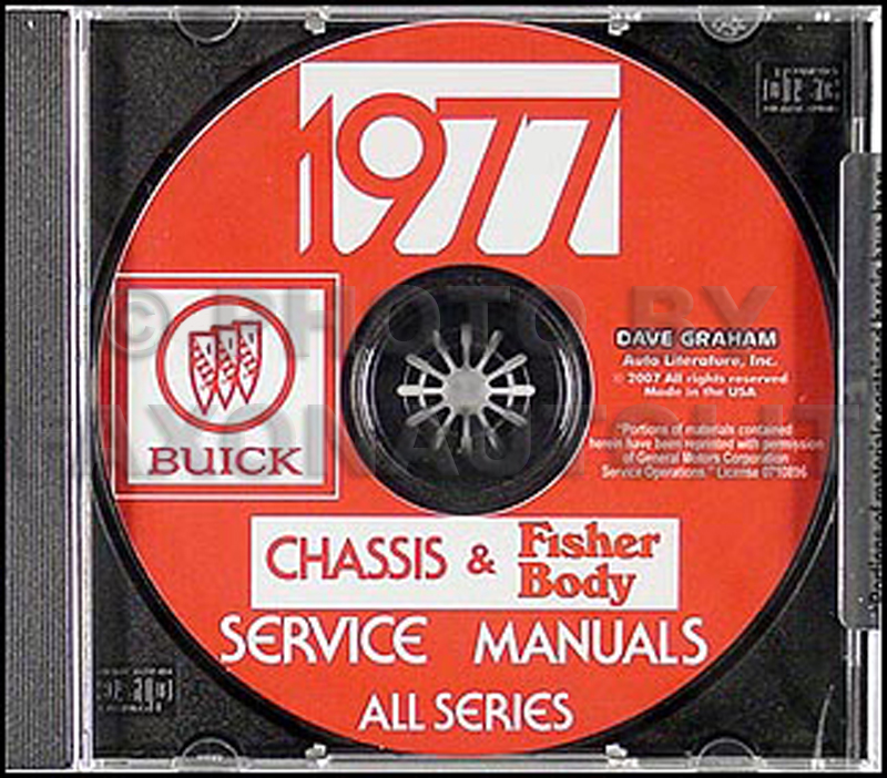 1977 Buick Shop Manual & Body Manual CD-ROM
