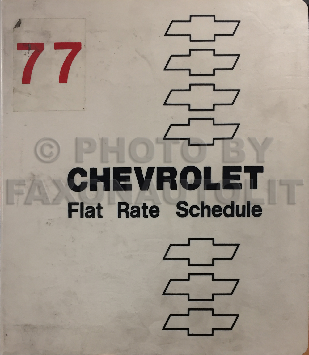 1977 Chevrolet Heavy Duty Truck Labor Time Guide Manual Original