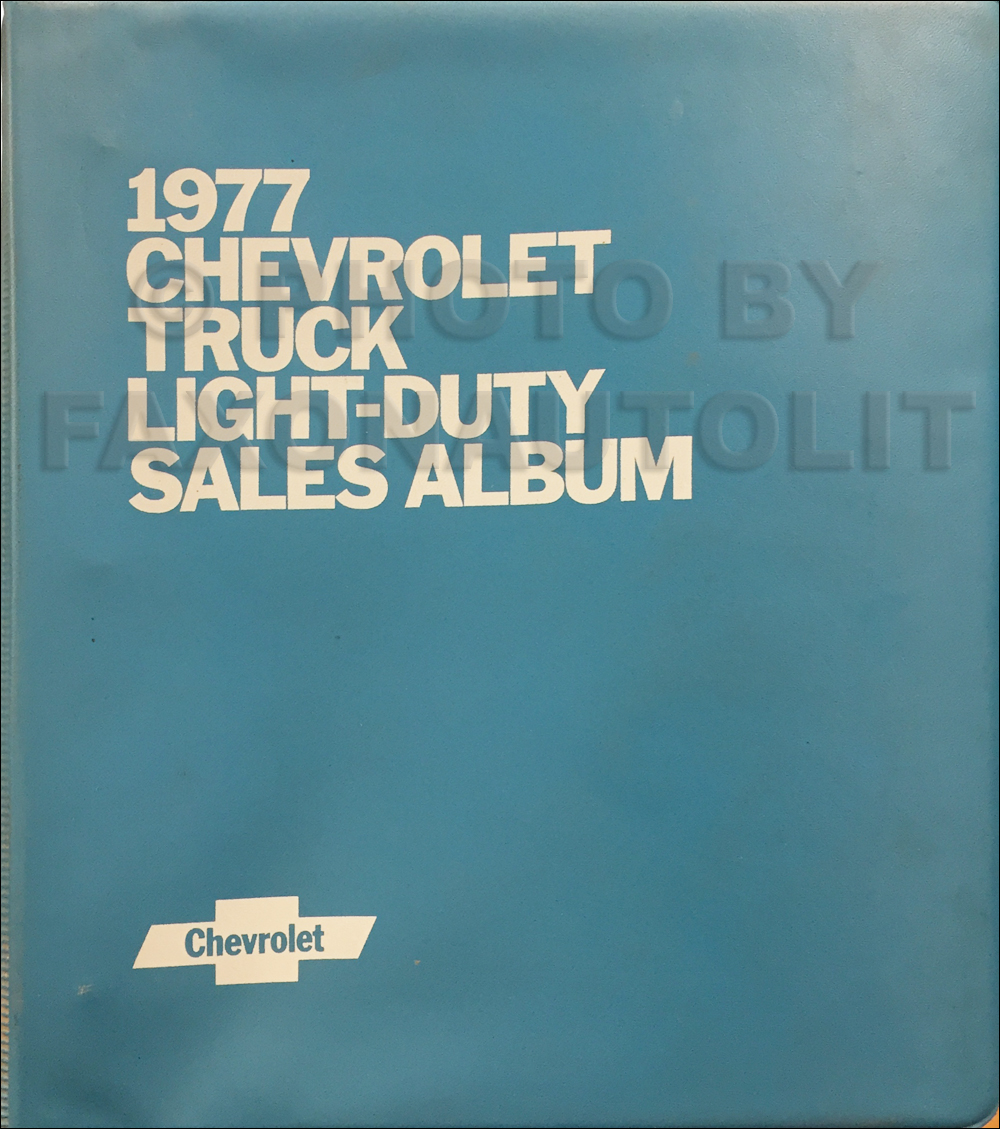 1977 Chevrolet Light Truck Data Book and Color and Upholstery Dealer Album Original