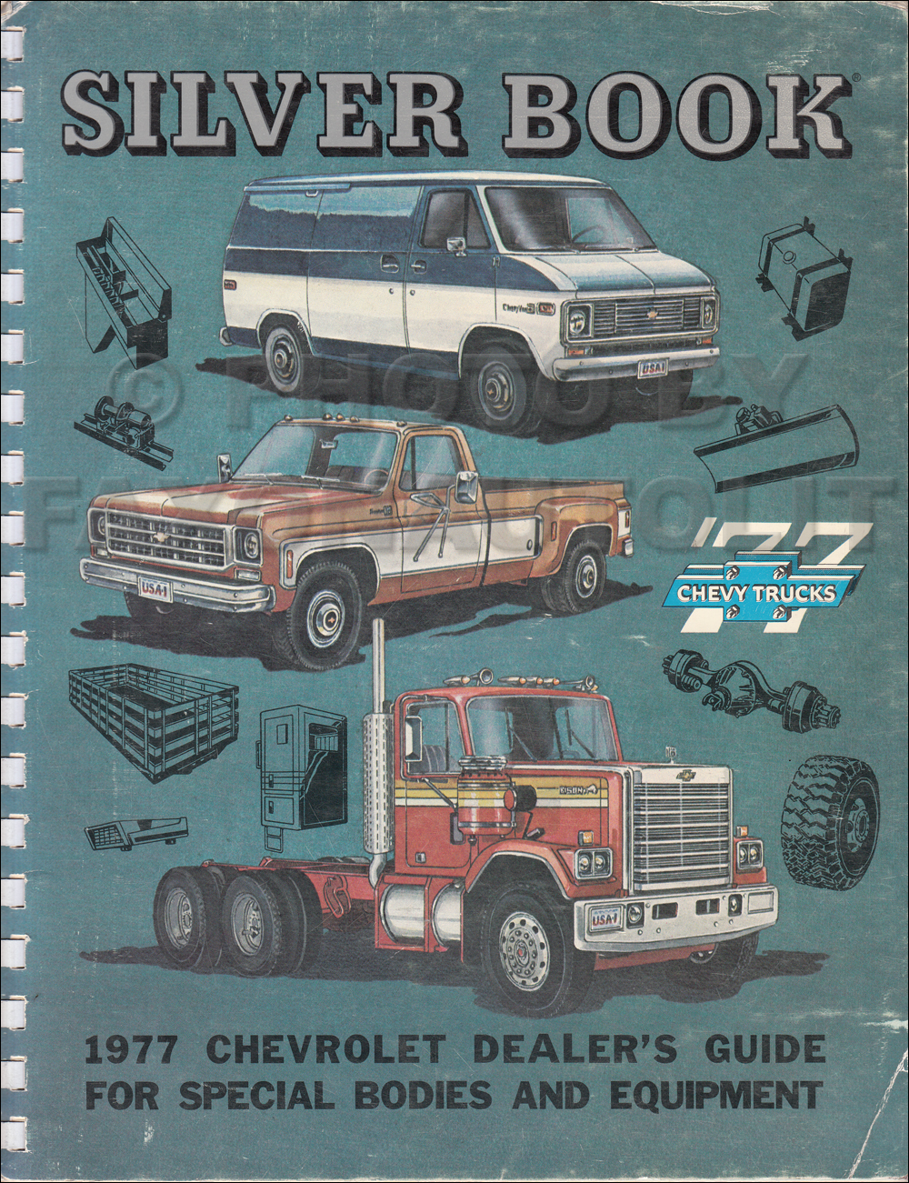 1977 Chevrolet Truck Silver Book Special Equipment Dealer Album $139.00
