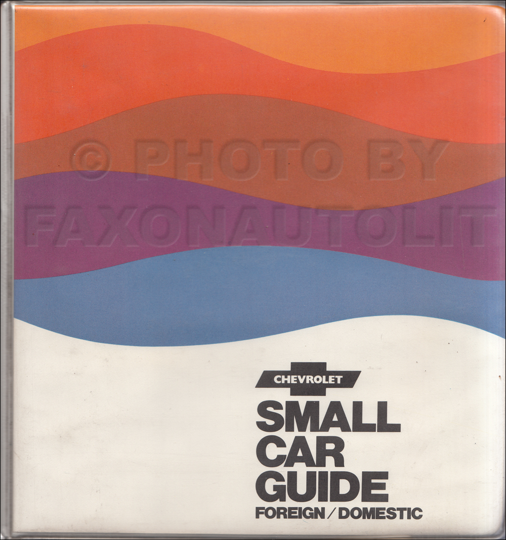 1971-1976 Chevrolet Used Small Car Feature Guide Dealer Album Original