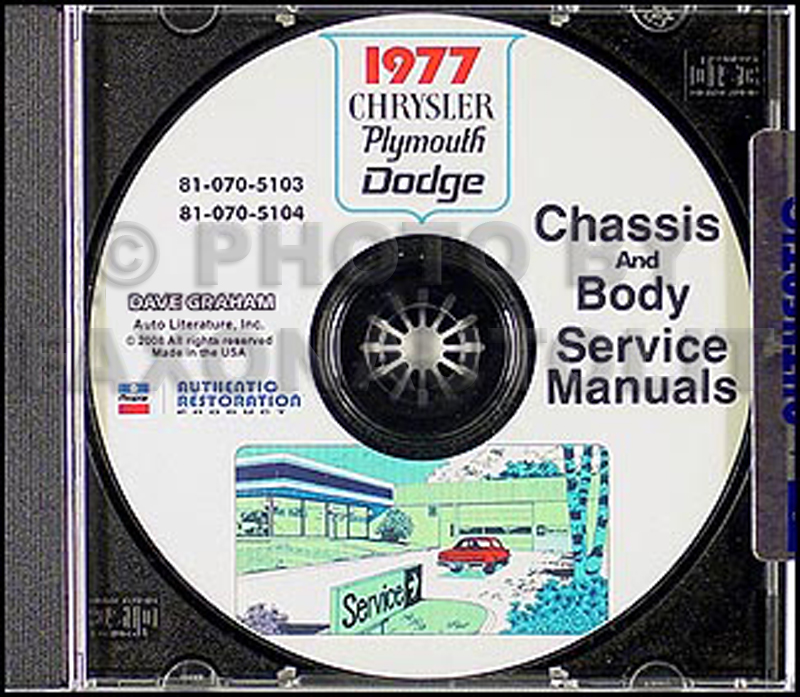 1977 Chrysler, Plymouth and Dodge CD-ROM Shop Manual