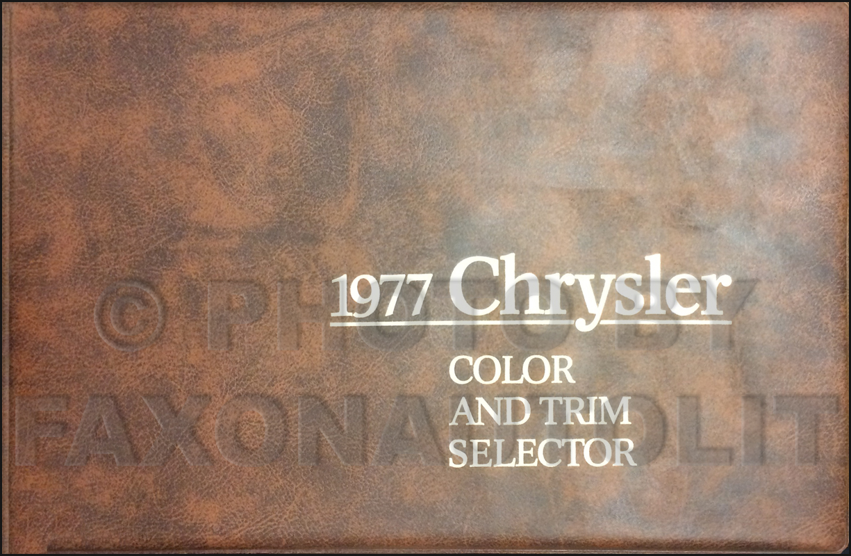1977 Chrysler Color & Upholstery Dealer Album Original