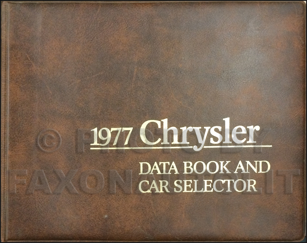 1977 Chrysler Data Book Original