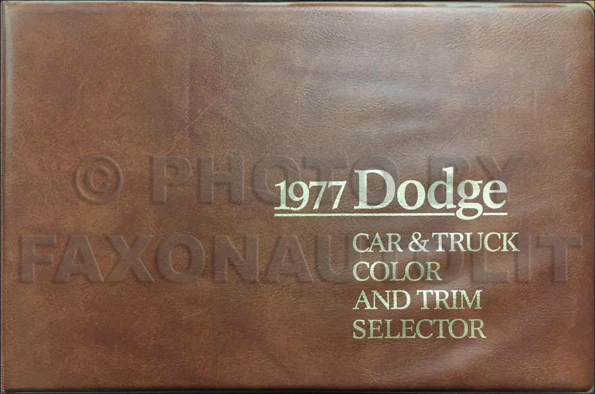 1977 Dodge Car & Truck Color & Upholstery Album Original