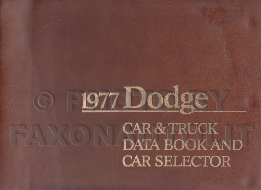1977 Dodge Data Book Original