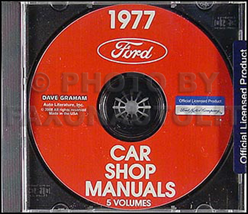 1977 Ford, Lincoln and Mercury CD-ROM Shop Manual for all cars 77