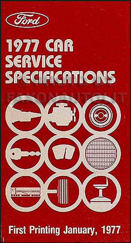 1977 Ford Lincoln Mercury Service Specs Manual Original
