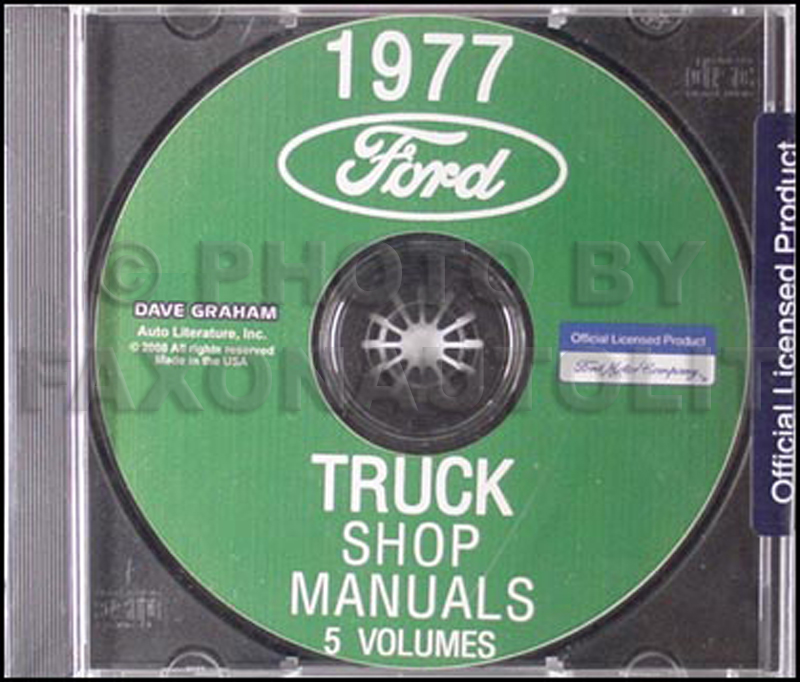 1977 Ford Truck Repair Shop Manual CD for Pickup, Bronco, Van, & big trucks