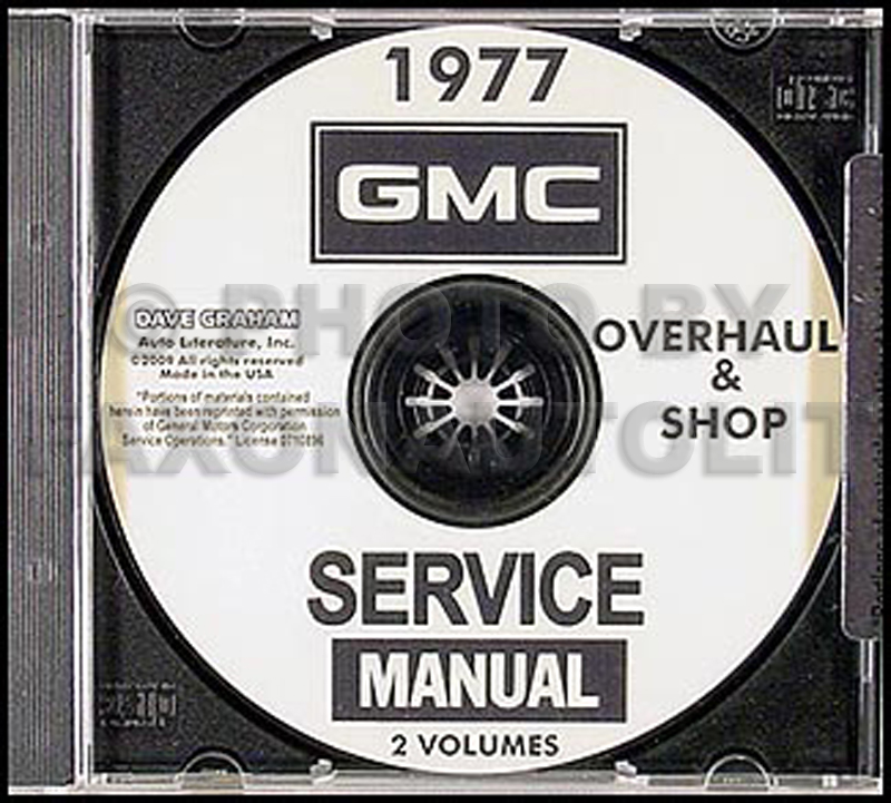 1977 GMC 1500-3500 Shop Manuals on CD-ROM