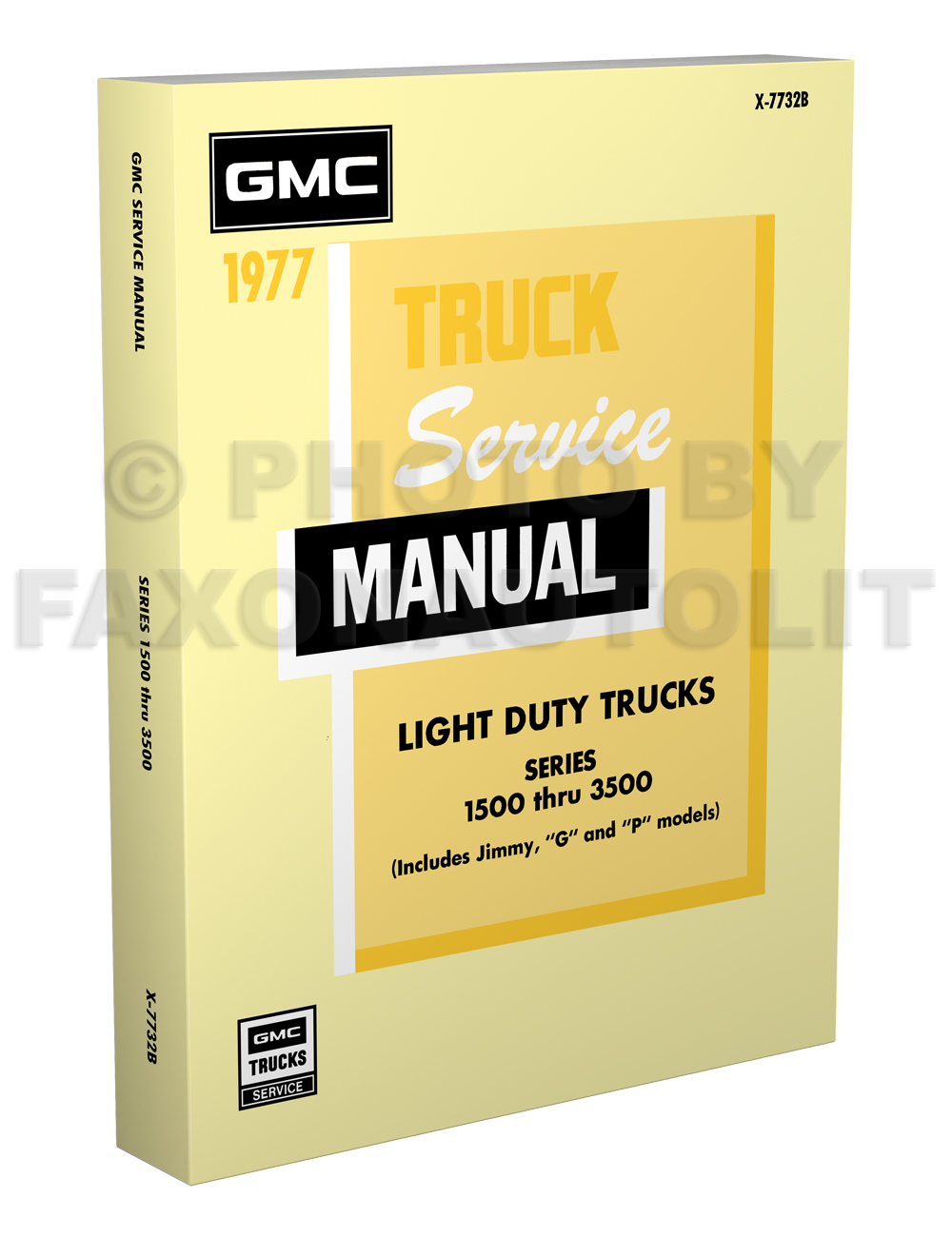1977 GMC Truck 1500-3500 Repair Shop Manual Reprint Pickup Jimmy Suburban FC