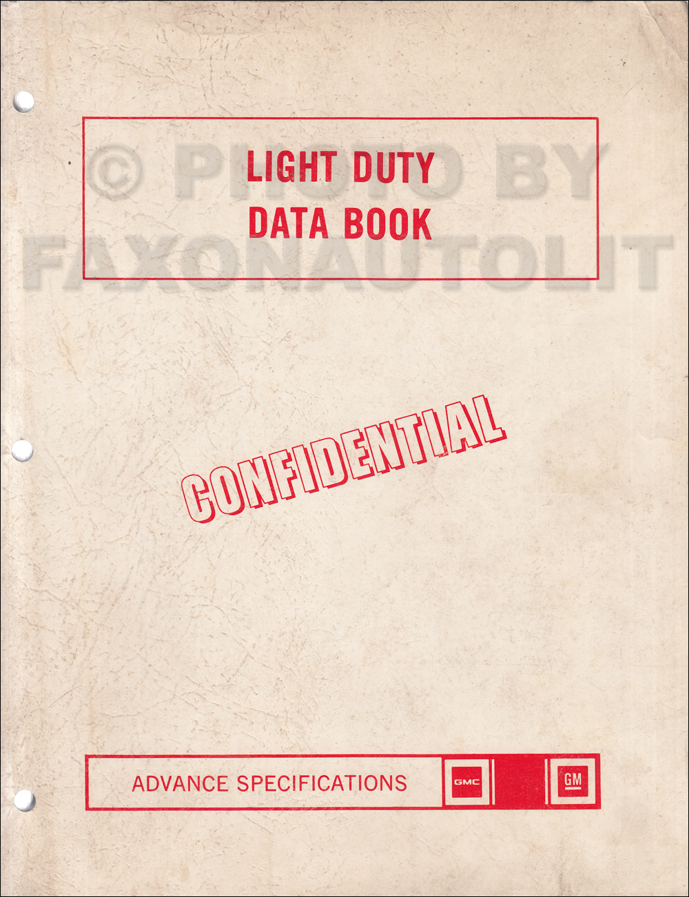 1977 GMC Advance Light Duty Data Book Original Component Specifications