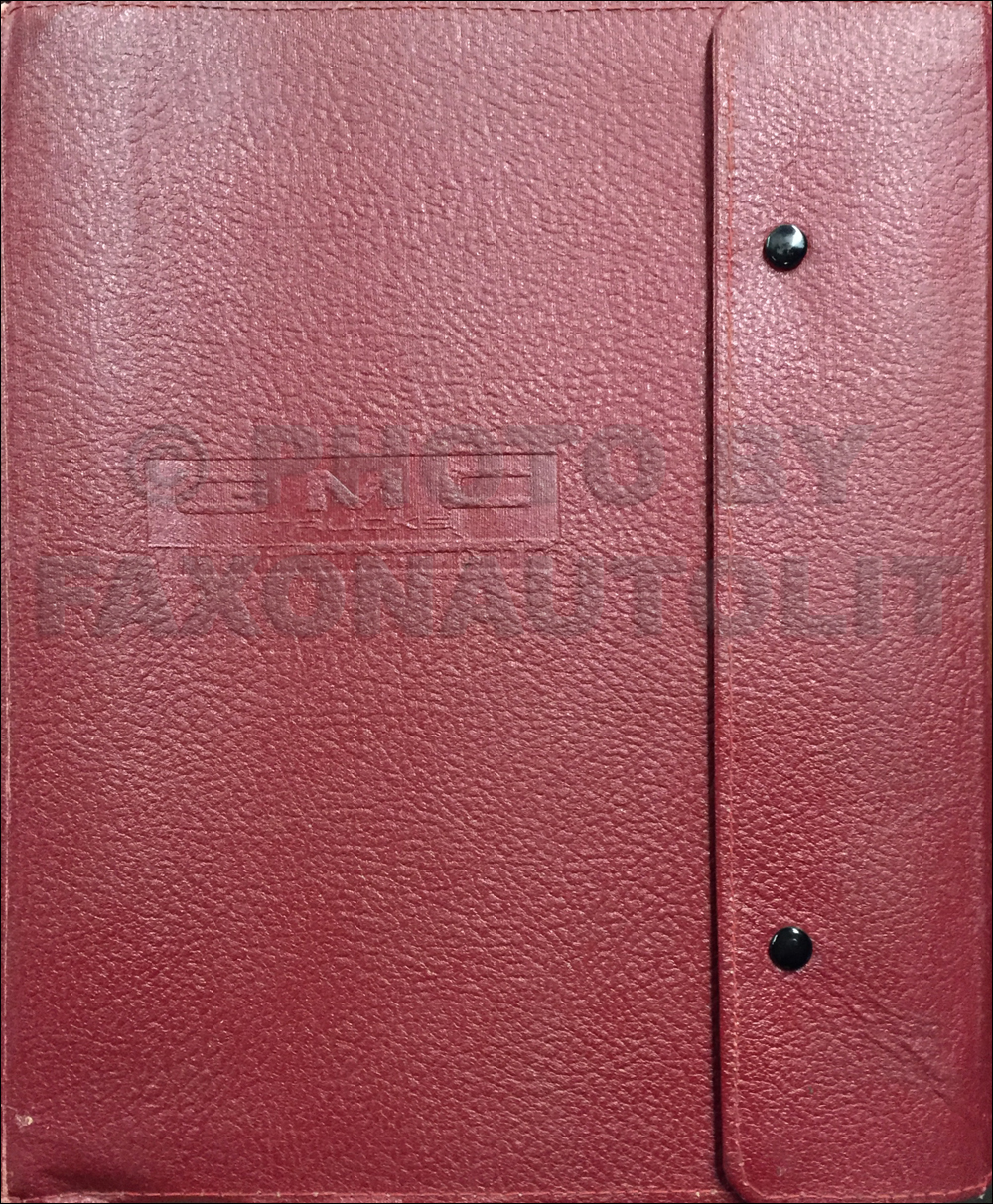 1977 GMC Data Book Original