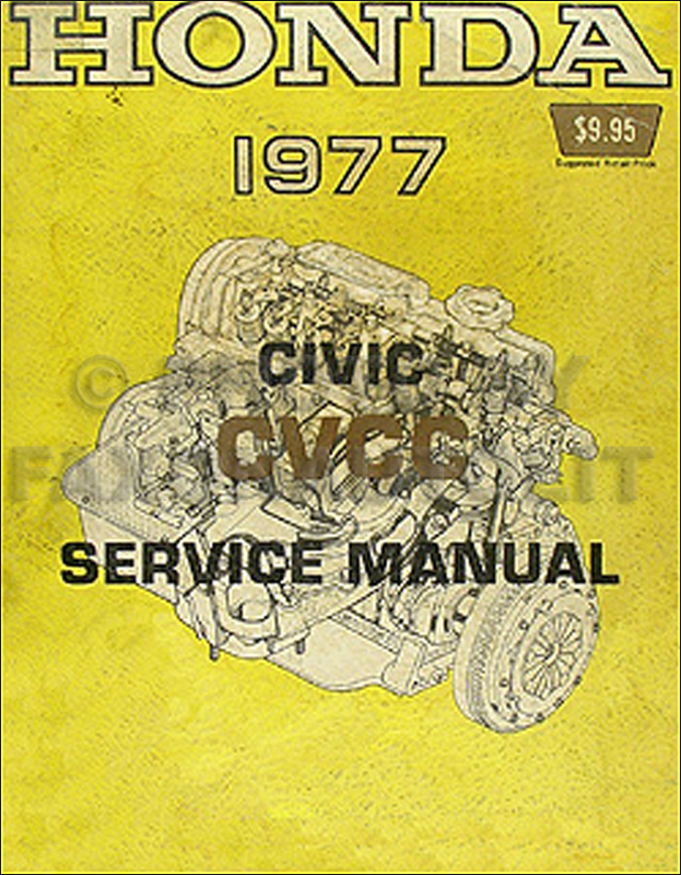 1977 Honda Civic CVCC Repair Manual Original