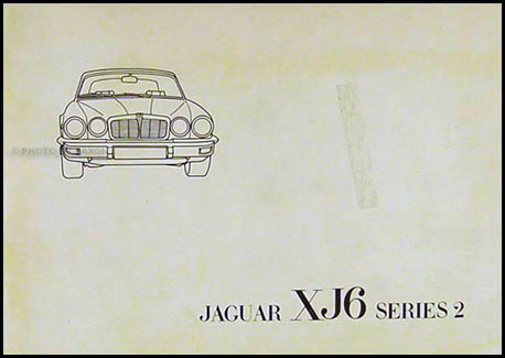 1977 Jaguar XJ6 Owner's Manual Original