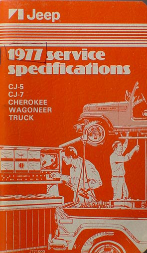 1977 Jeep Service Specifications Manual Original