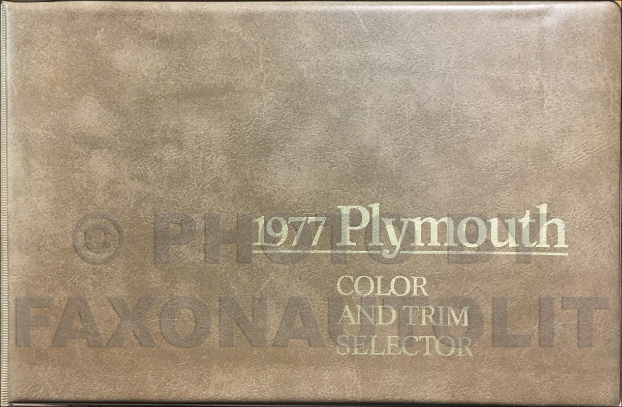 1977 Plymouth Color & Upholstery Album Original