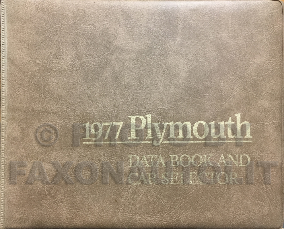 1977 Plymouth Data Book Original