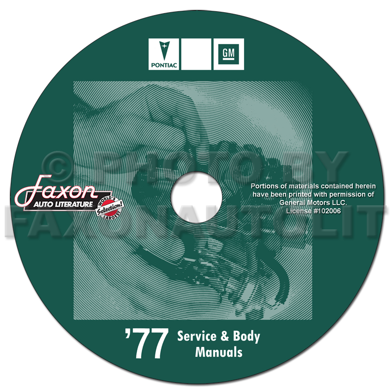 1977 Pontiac Shop Manual and Body Manual on CD-ROM