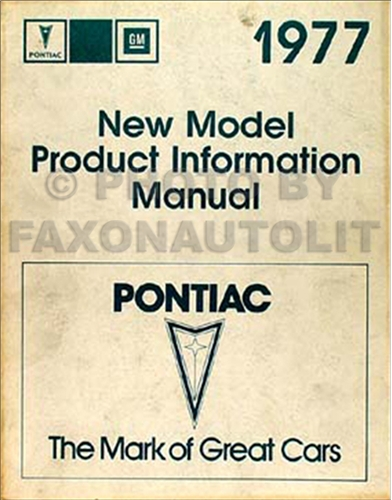 1977 Pontiac Service Information Manual