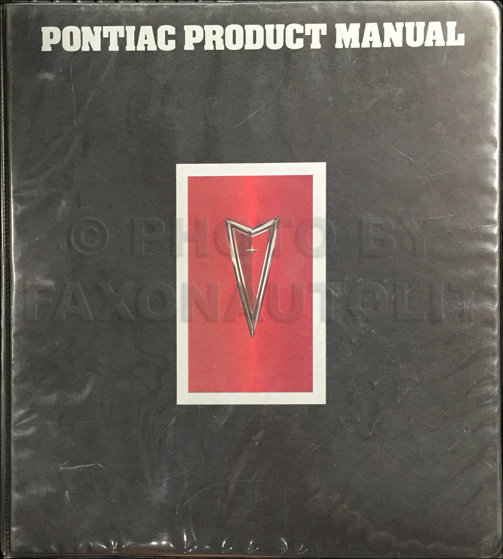 1977 Pontiac Product Manual Color & Upholstery, Data Book Dealer Album Original with Accessories