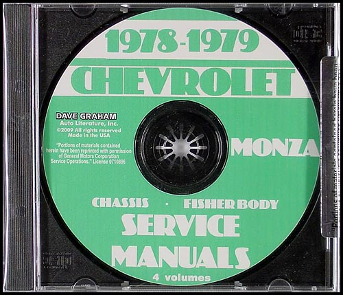 1978-1979 Chevrolet Monza CD Shop Manual