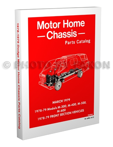 1978-1982 Dodge Motor Home Chassis Parts Catalog Reprint