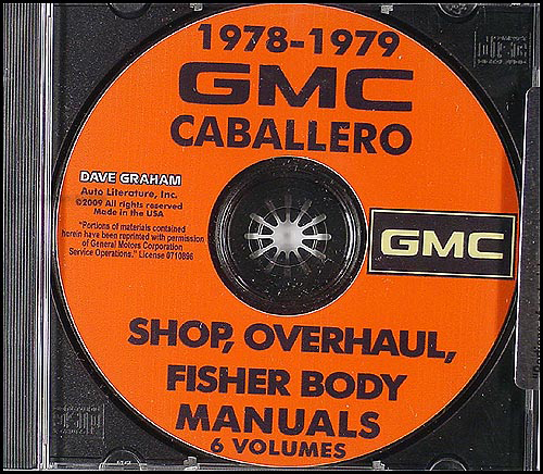 1978-1979 GMC Caballero Shop Manuals on CD-ROM