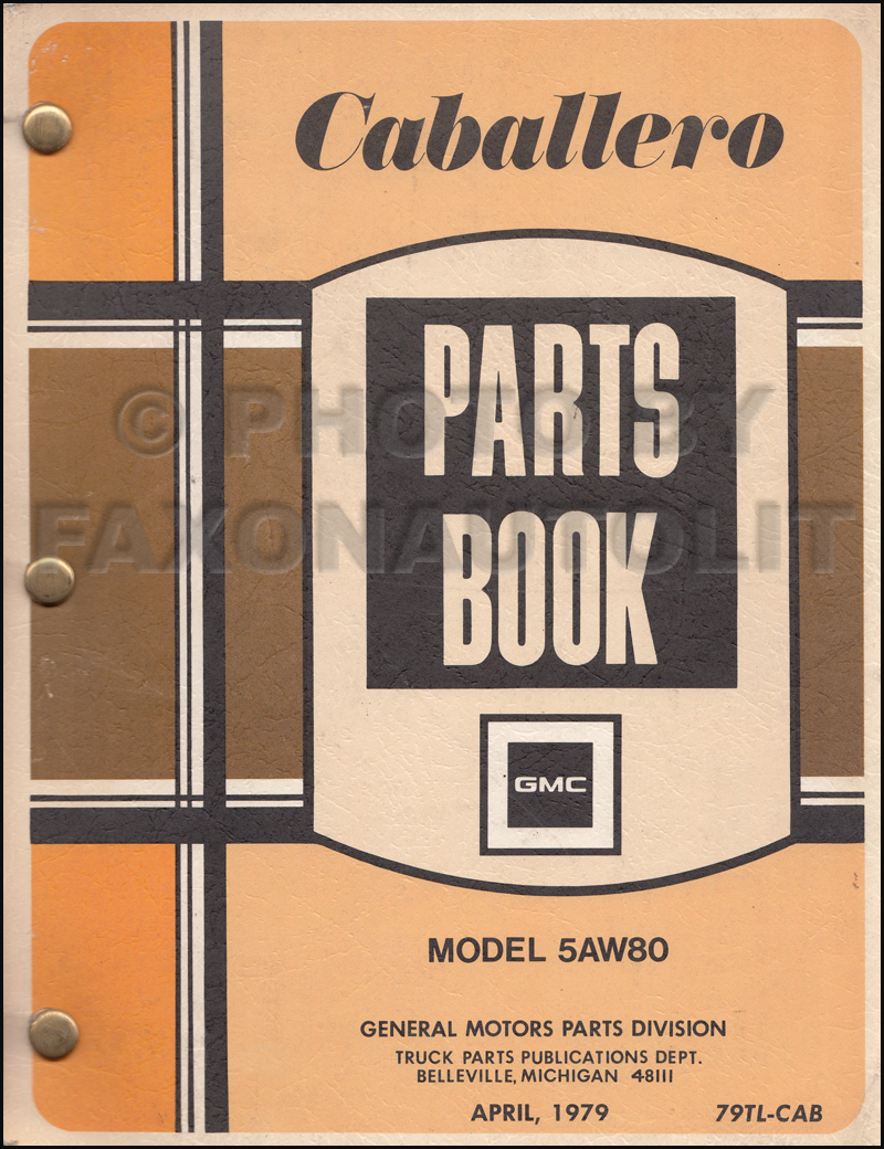 1978-1979 GMC Caballero Parts Book Original