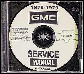 1978-1979 GMC 1500-3500 Shop Manuals on CD-ROM