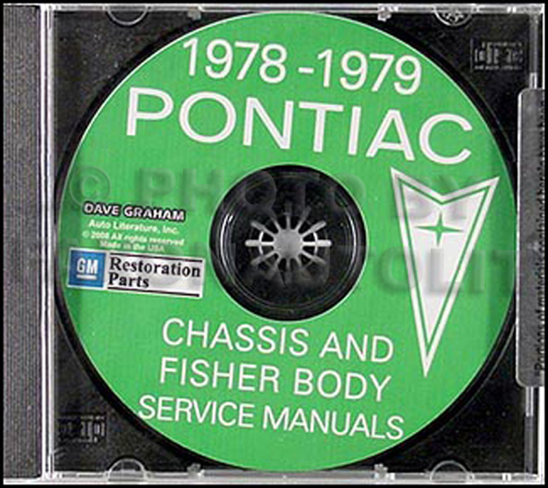 1978-1979 Pontiac Shop Manual and Body Manual on CD-ROM