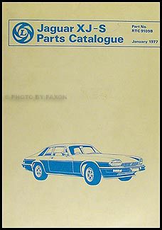 1978-1980 Jaguar XJ-S Parts Book Original