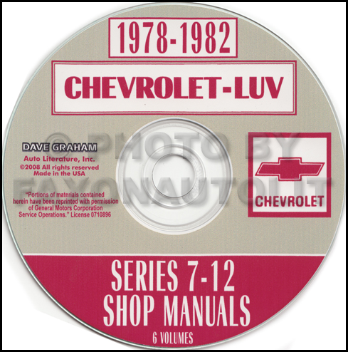 1978-1982 Chevrolet Luv Series 7-12 Shop Manual CD-ROM