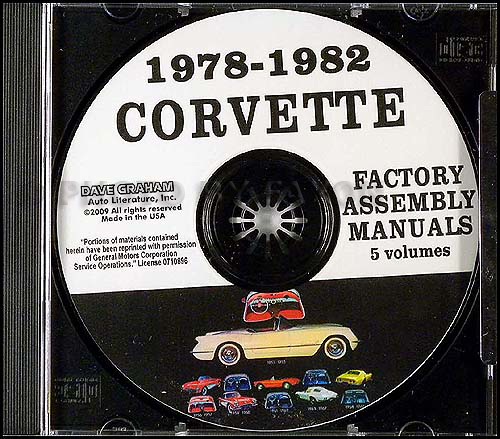 1978-1982 Chevrolet Corvette Assembly Manual on CD-ROM