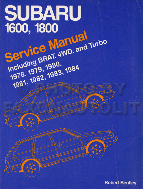 1978 Subaru 1600 Repair Manual Original