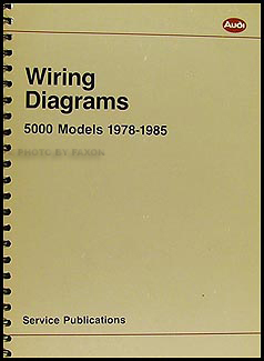 1978-1985 Audi 5000 Wiring Diagram Manual Original